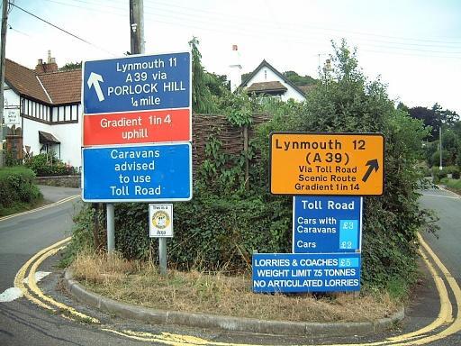 Porlock Hill Signs