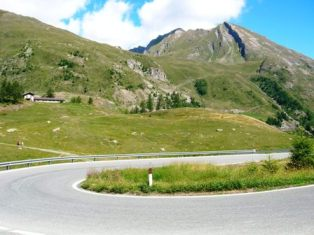 hair-pin bend near La Thuile, Italy